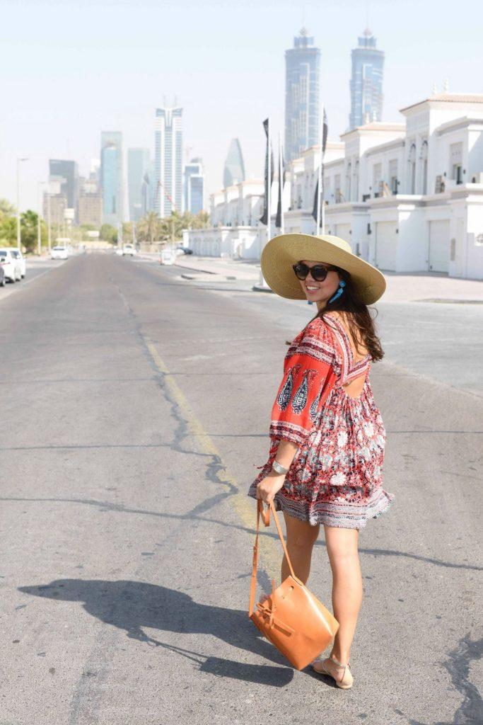 Floppy hat and flowy dress - Adored by Alex - Dubai UAE