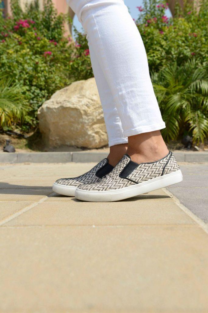 Elaine Turner Maddox Chevron slip on sneaker