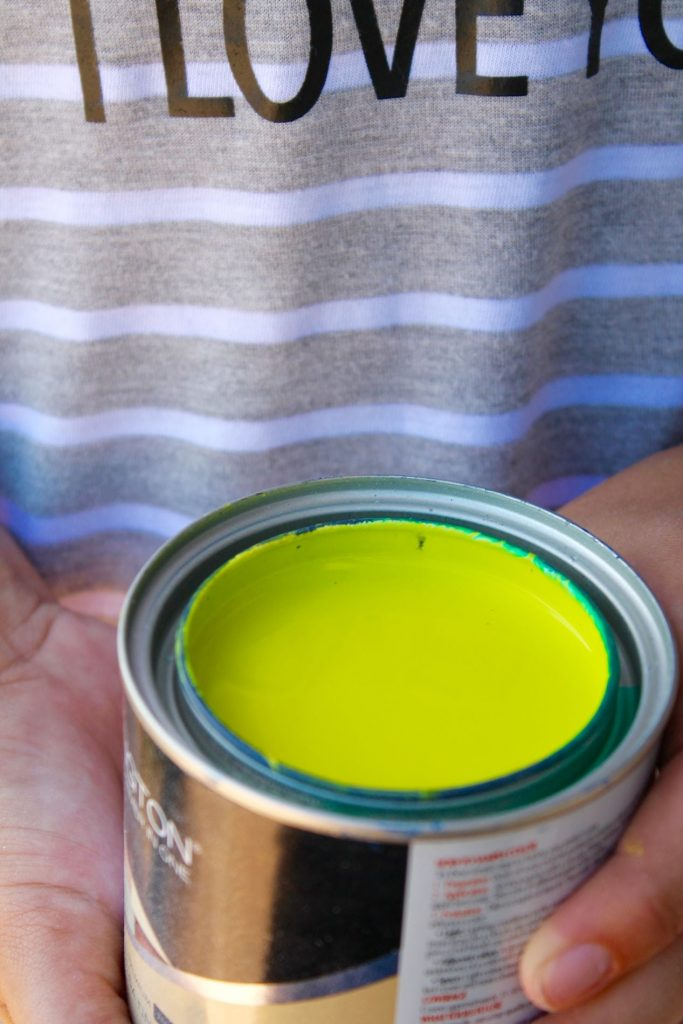 Lime green paint via Ace Hardware