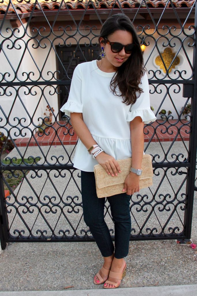 Simple white top and jeans