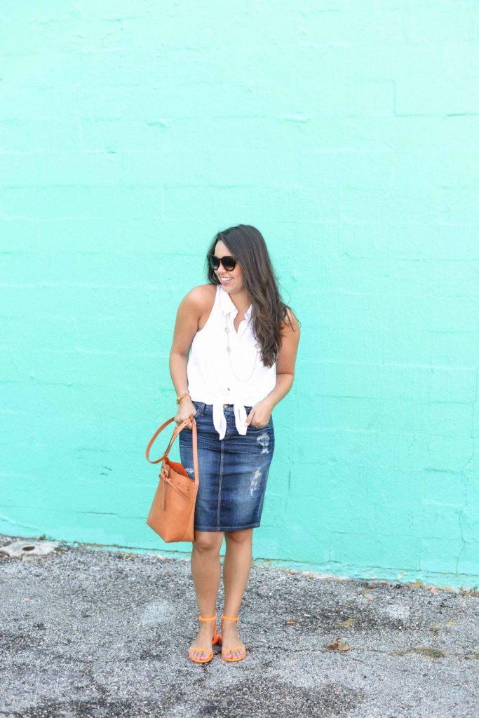 Denim Skirt - Adored by Alex