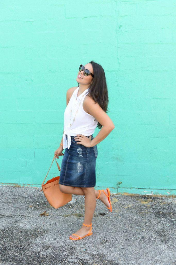 Denim skirt - fall trends