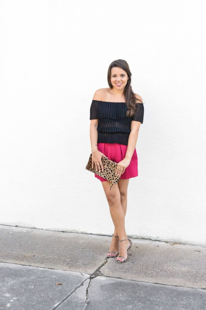 Black, pink and leopard print