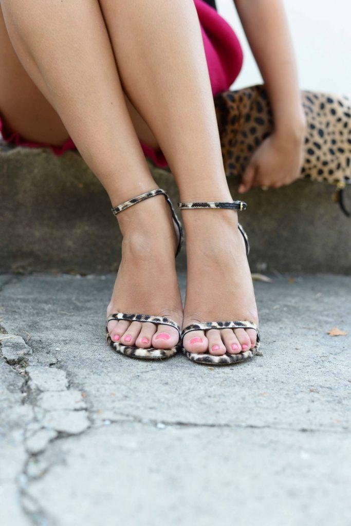 Stuart Weitzman Nudist leopard sandals