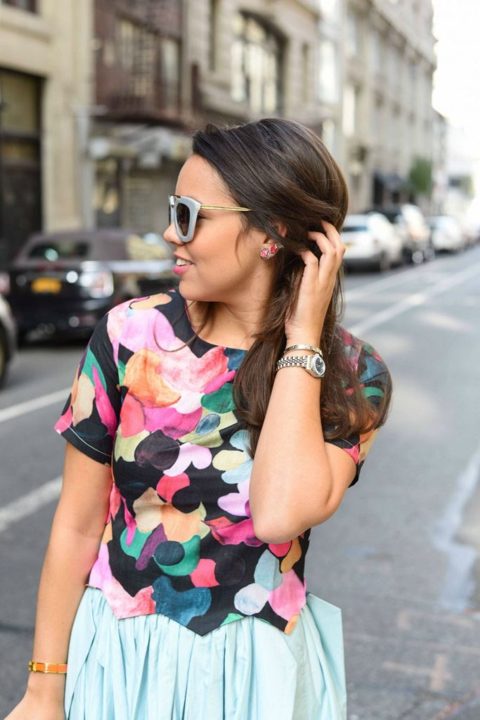 SheIn Colorful spotted top - Alexandra Carreno