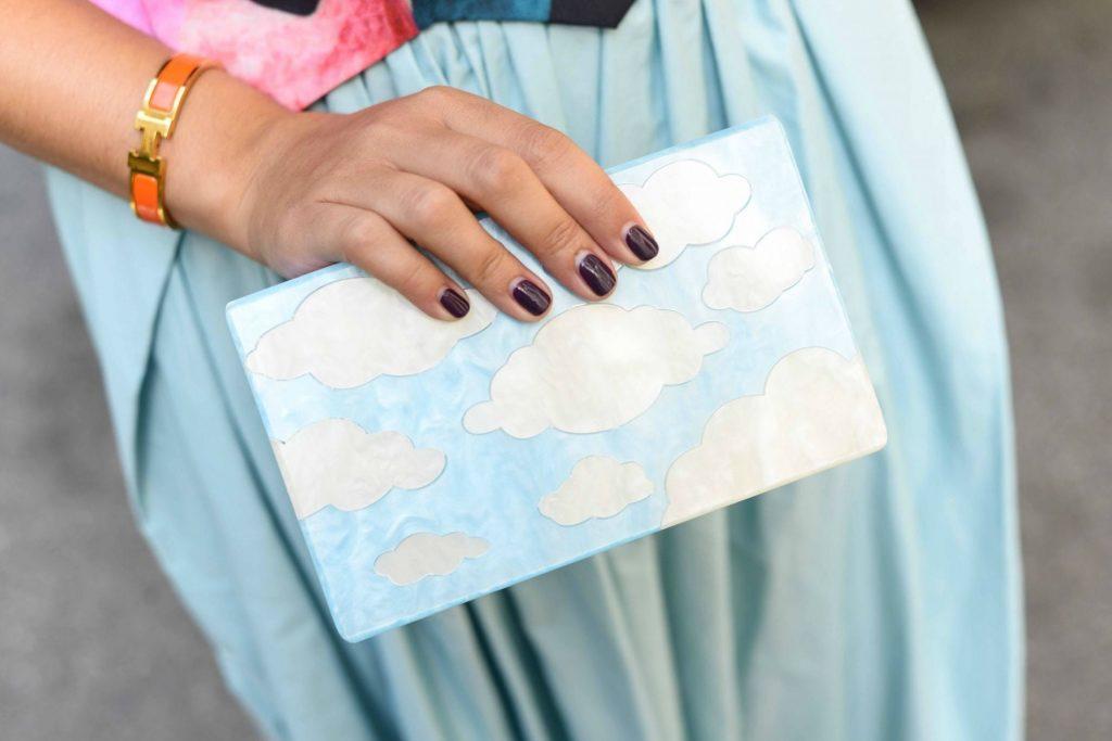 Cloud acrylic clutch