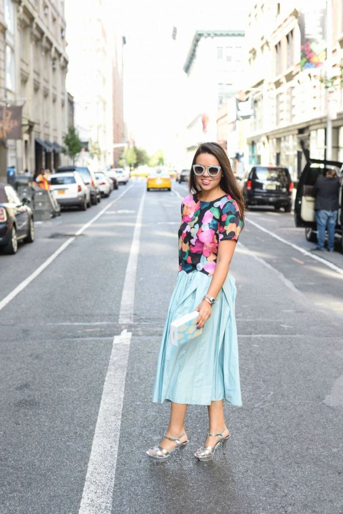 Tibi pleated skirt - Alexandra Carreno NYFW SS16