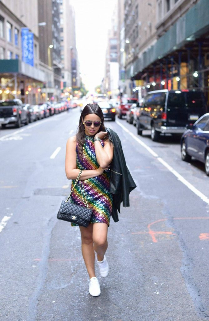 Chanel quilted bag - NYFW street style - Alexandra Carreno