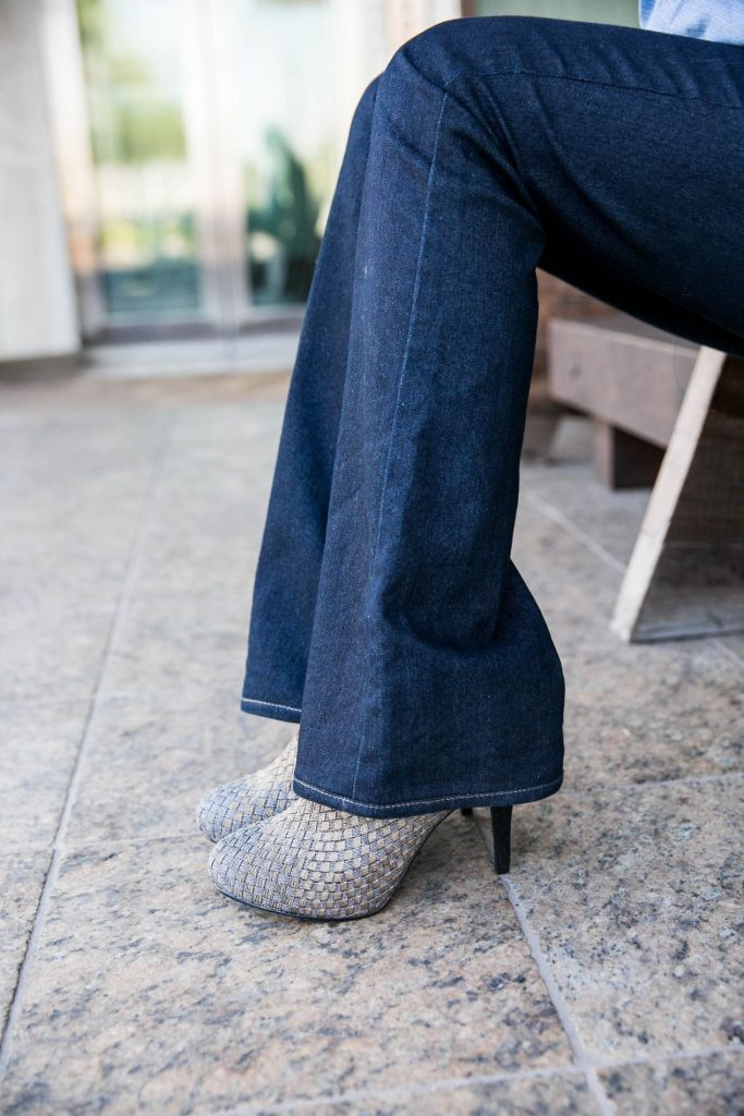 Zee Alexis heels + flared denim