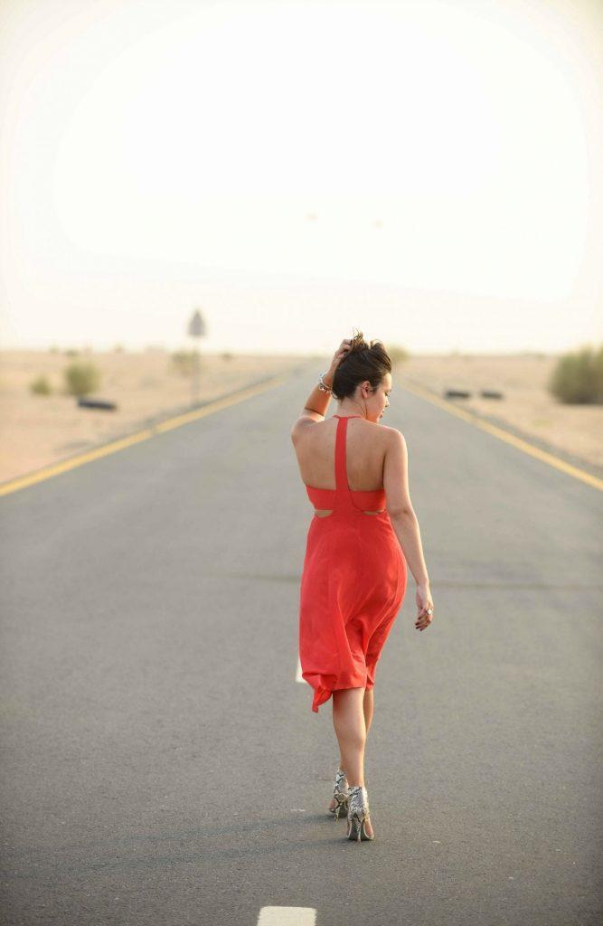 T-strap back dress