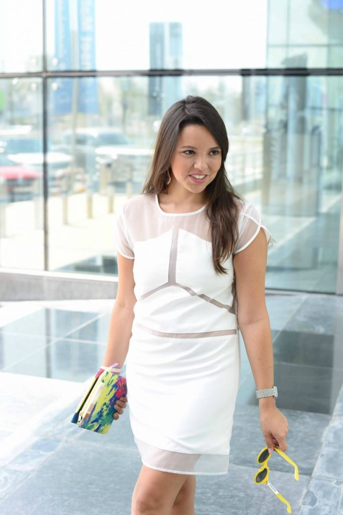 White dress after Labor Day - Adored by Alex - Dubai
