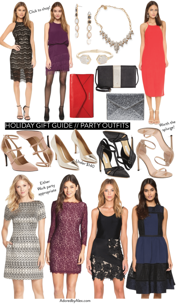 Holiday Gift Guide 2015 // Party Dresses