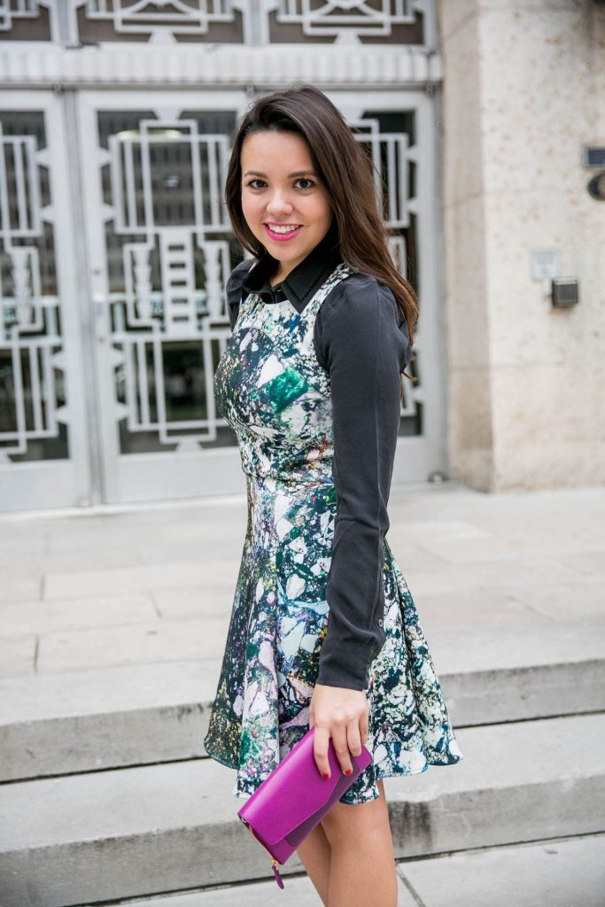 Printed Party Dress