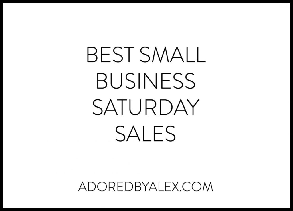 Shop Small Business Saturday Sales 2015