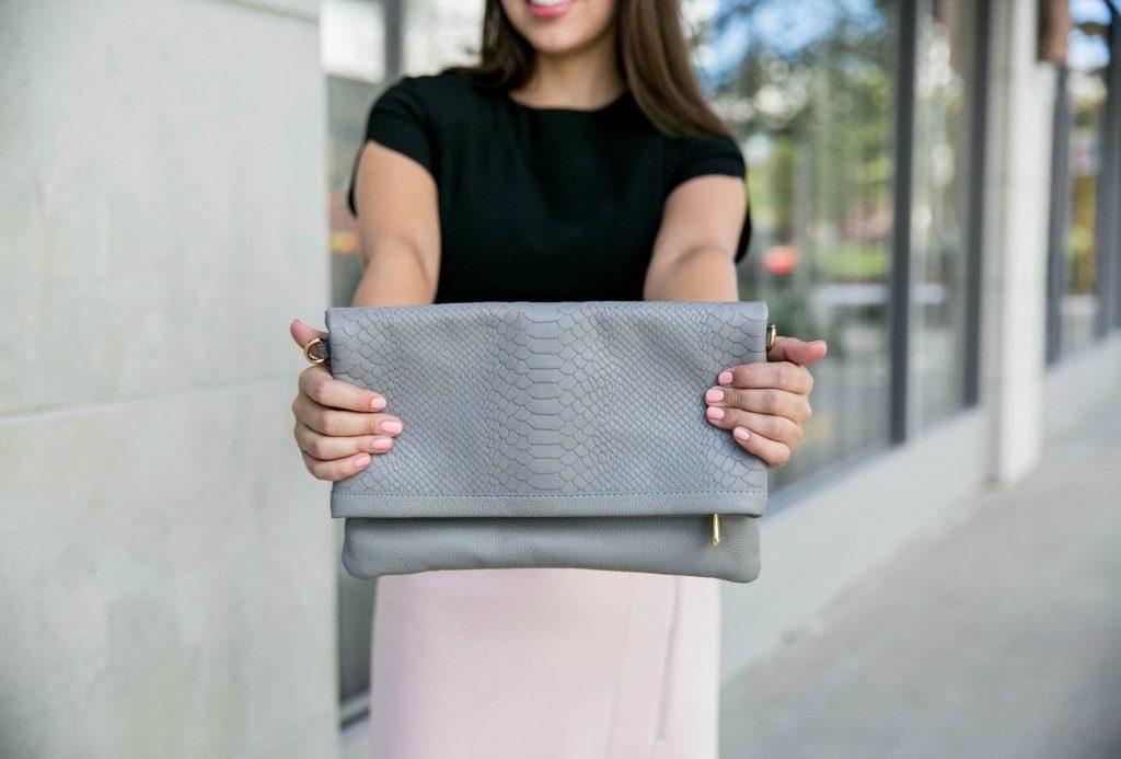 GiGi New York Slate Carly Convertible Clutch