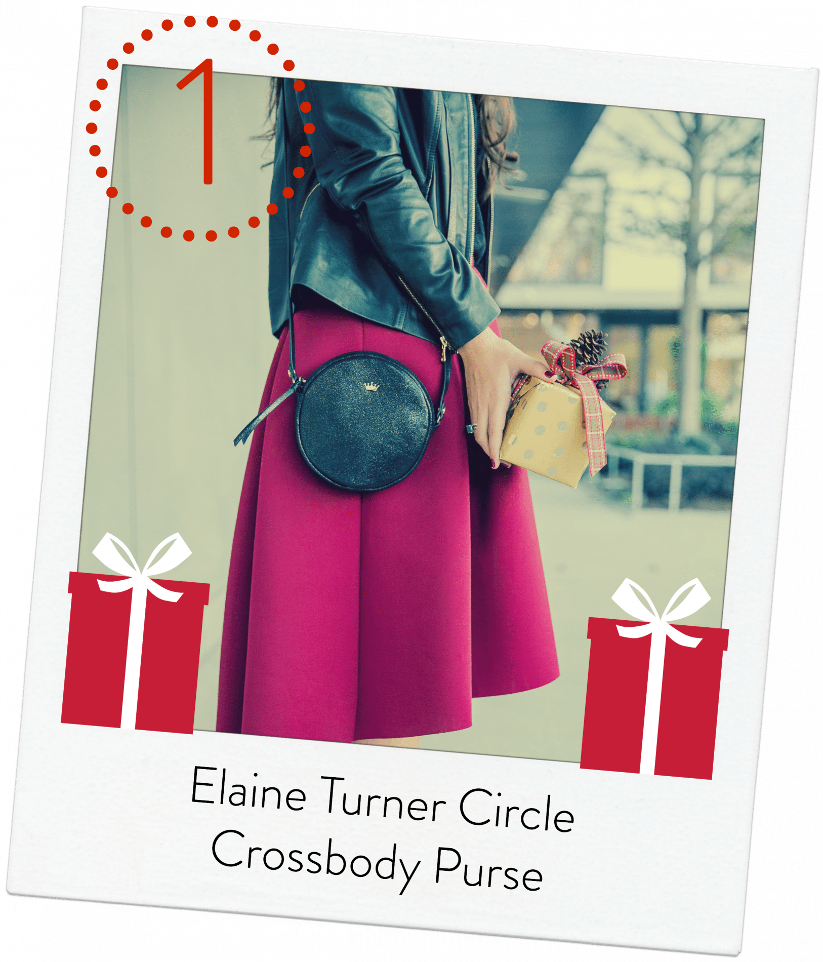 Elaine Turner Circle Crossbody purse