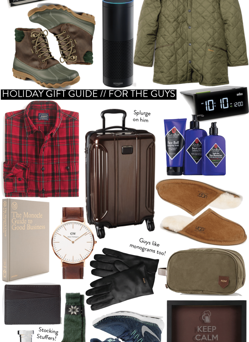 Holiday Gift Guide 2015 // For the Guys