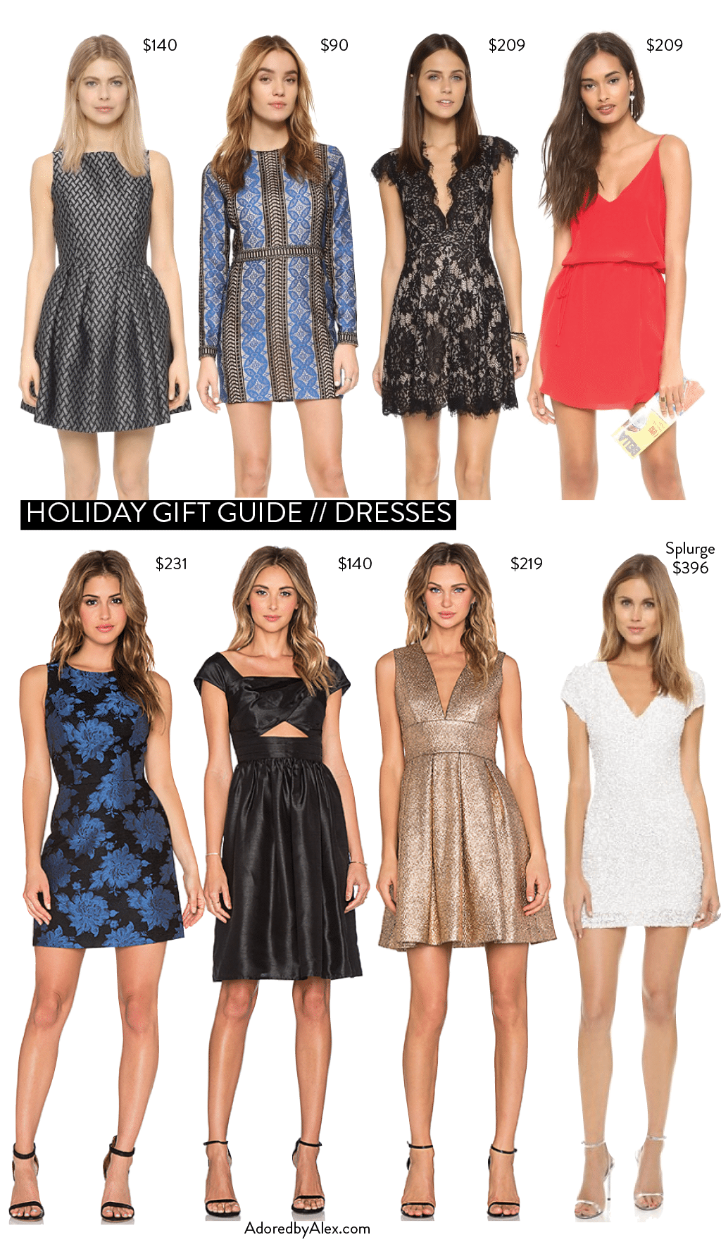 Holiday Party Dresses - Adored by Alex
