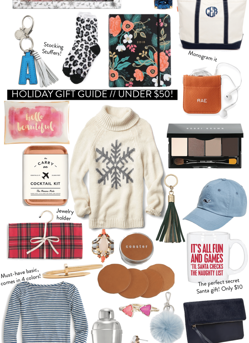 Holiday Gift Guide 2015 // Under $50