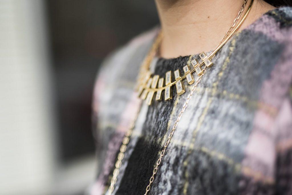 Margaret Elizabeth Emerald collar necklace