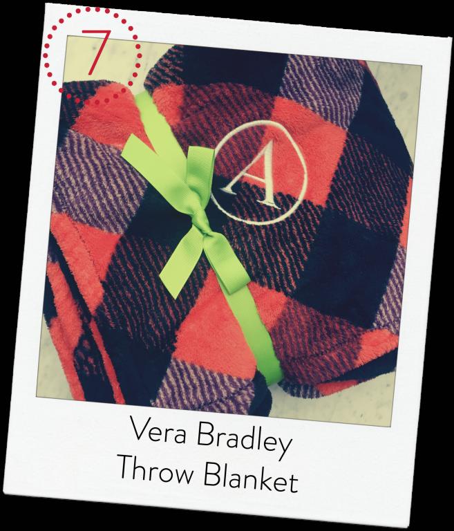 Vera Bradley Buffalo Check monogrammed blanket