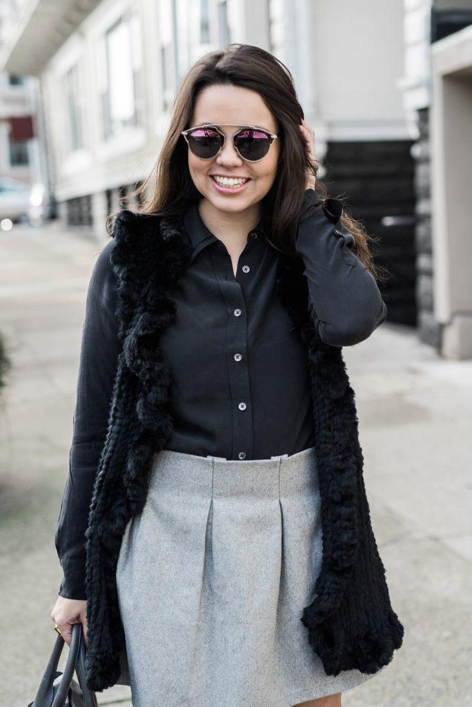 Black Equipment slim signature blouse