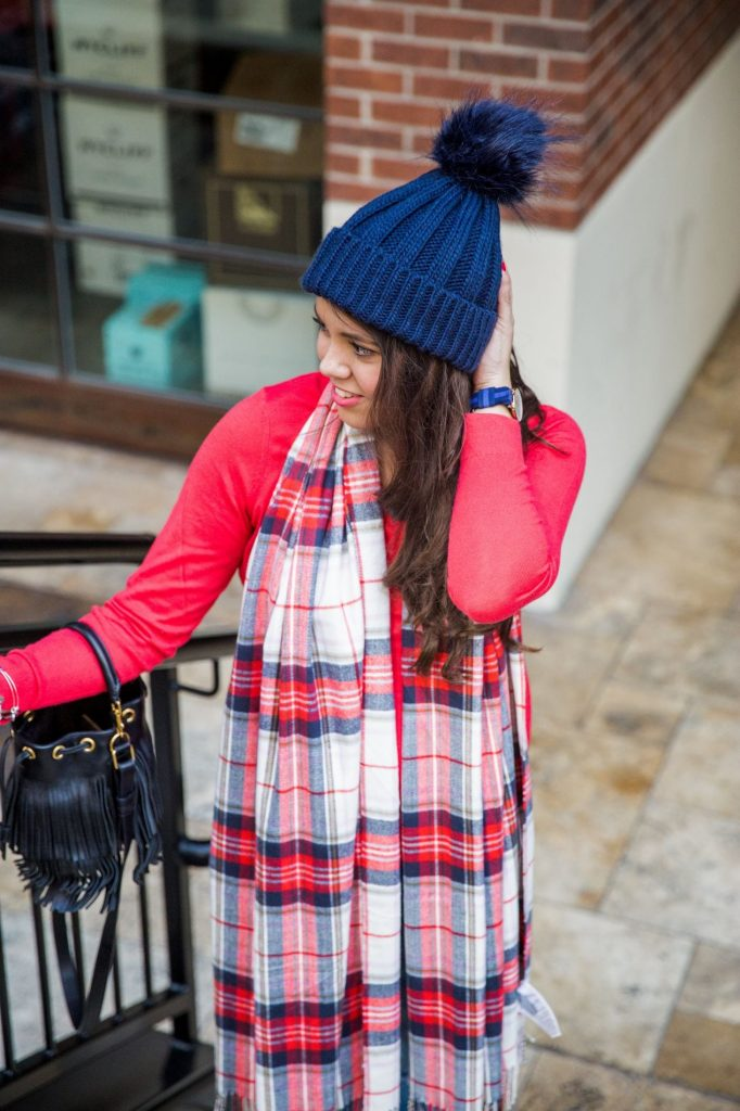 Plaid-Blanket-Scarf-Fringe-Bag