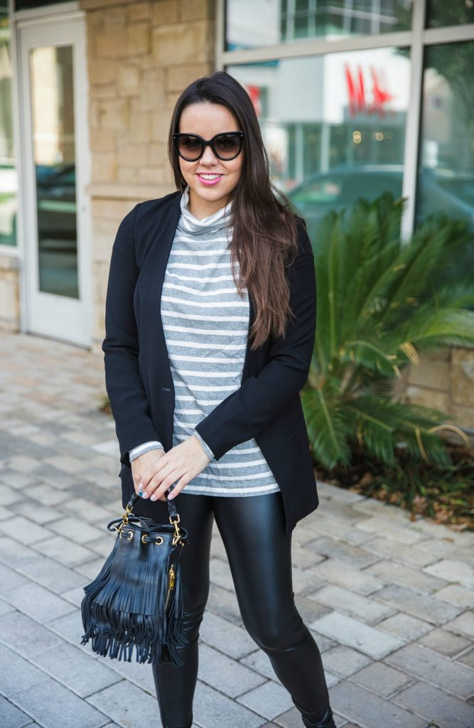 faux leather leggings outfit ideas