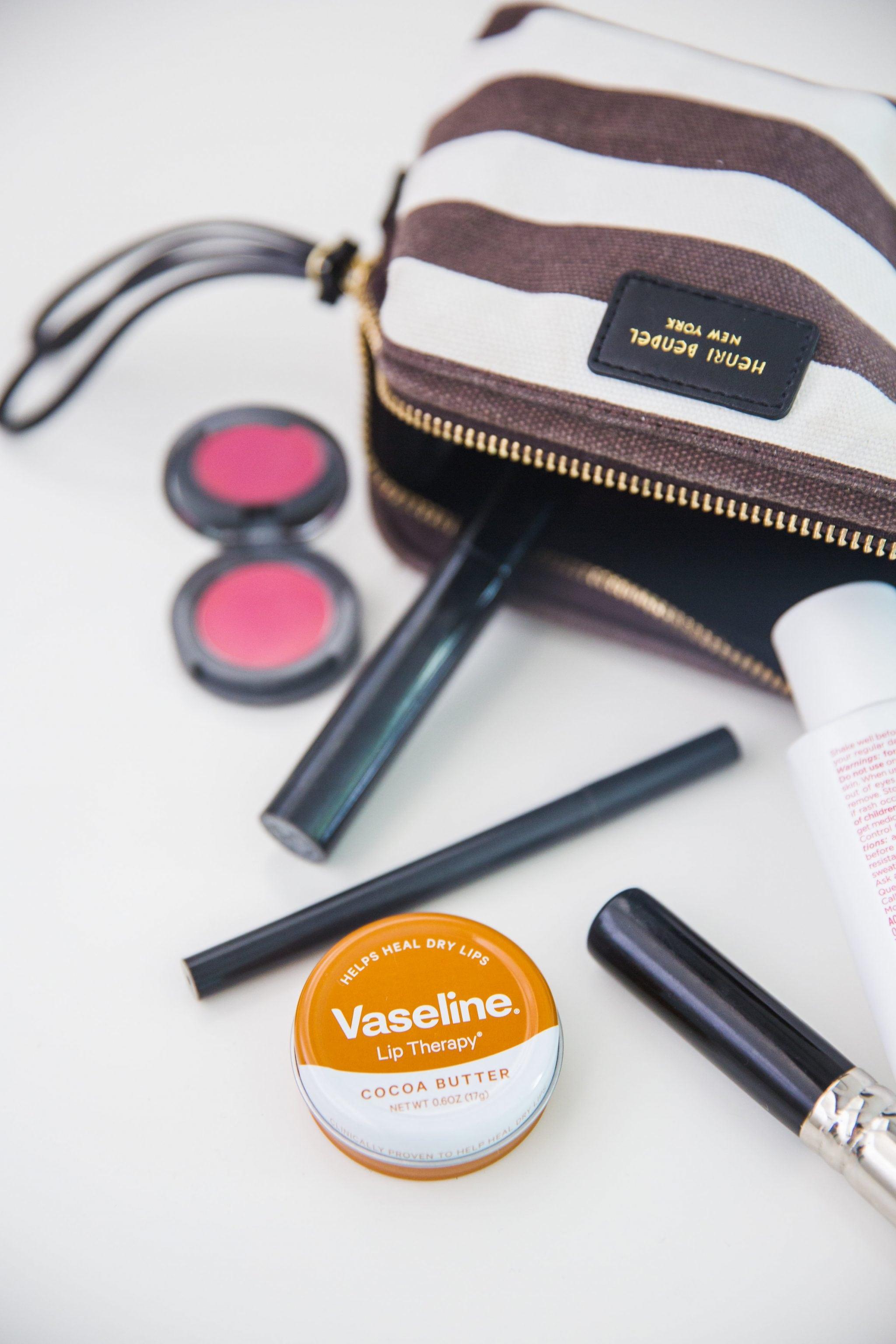 Inside the makeup bag