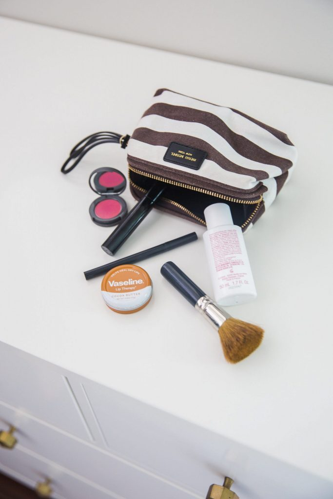 inside the makeup bag