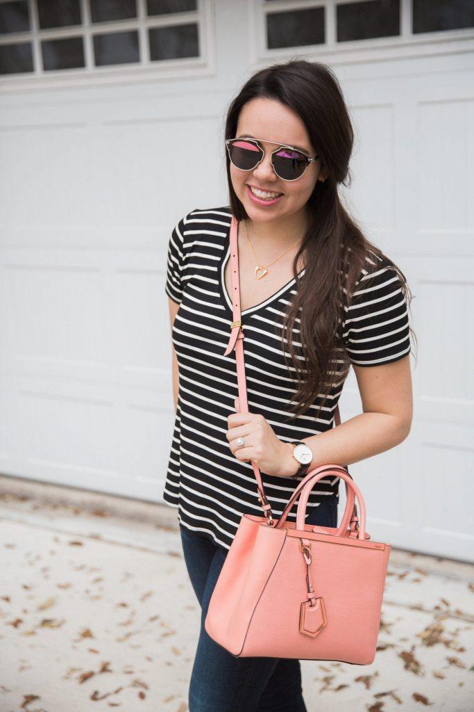 coral pink crossbody satchel