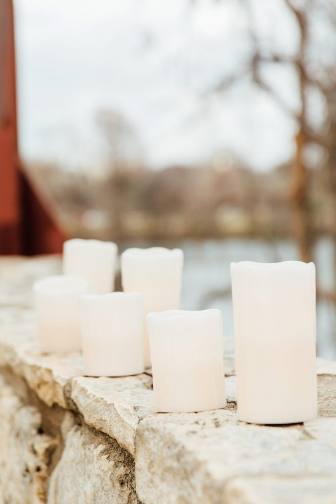 Candles by the water
