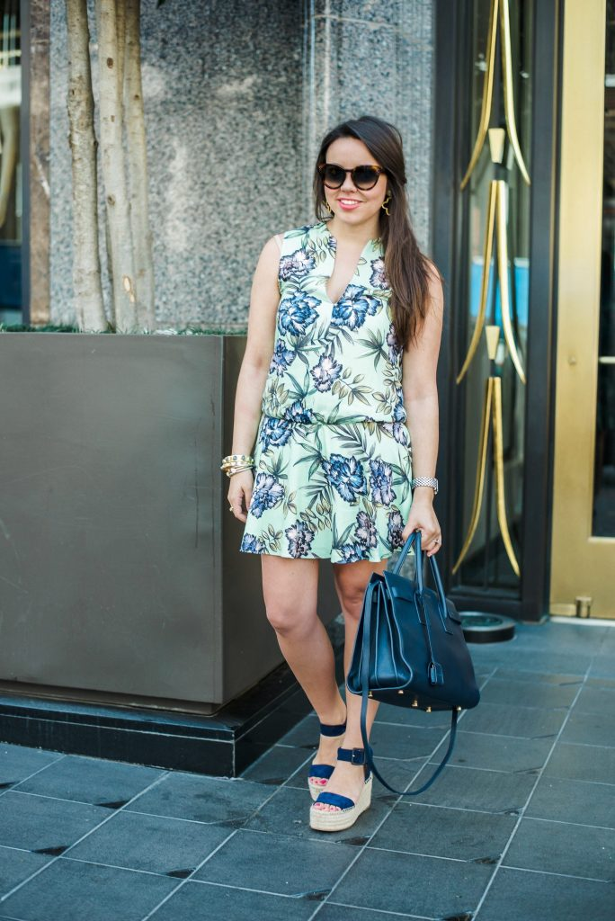 Alice + Olivia Brook sleeveless floral dress