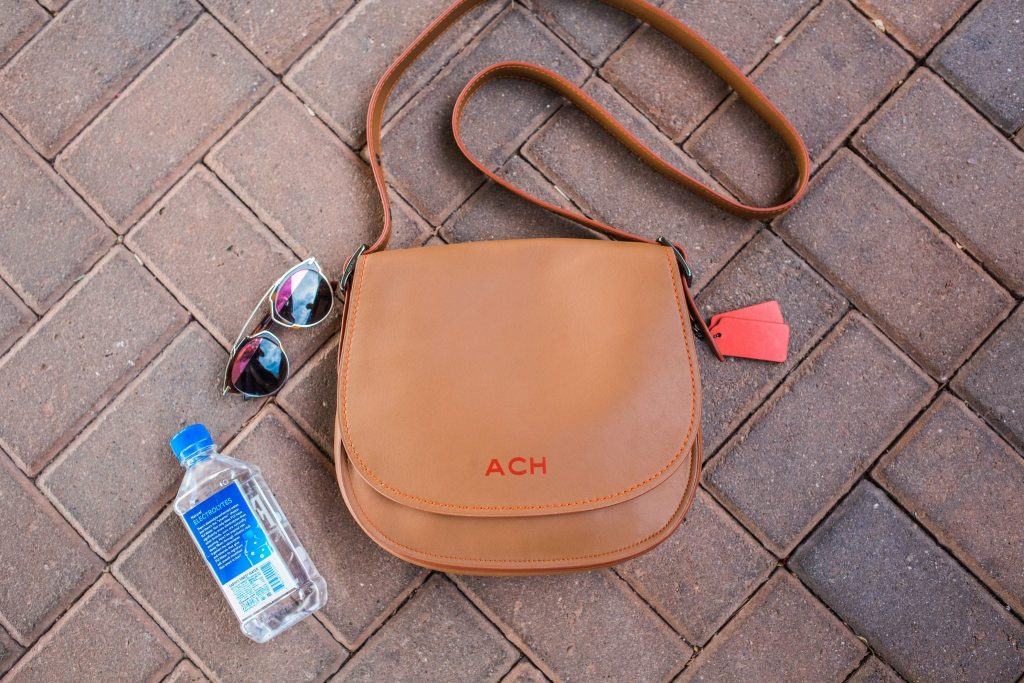 Monogrammed coach crossbody