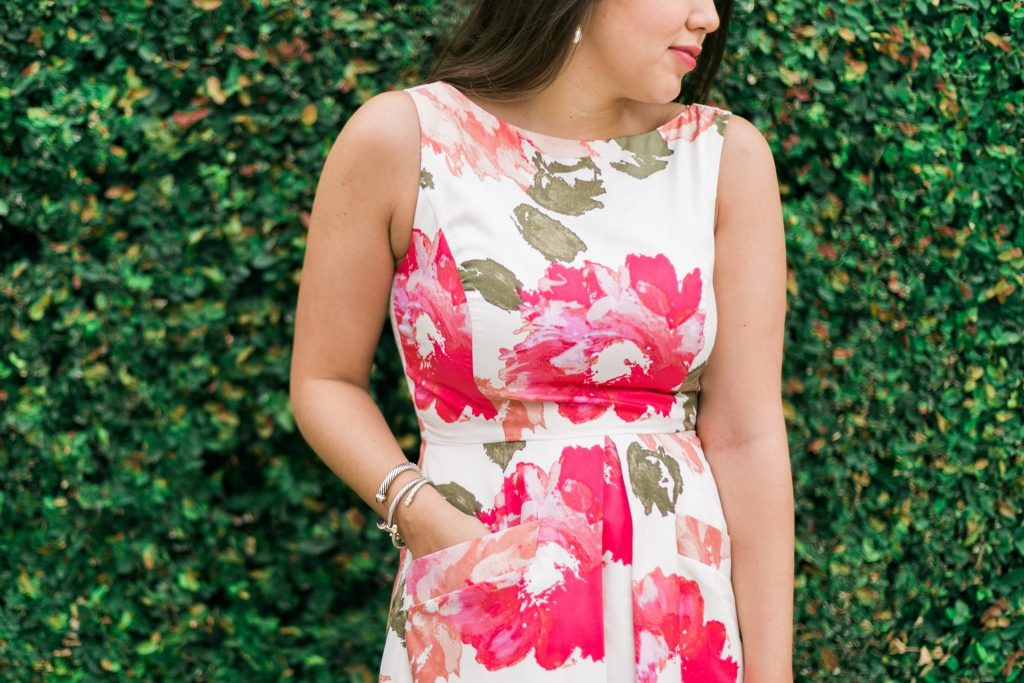 Donna Morgan floral fit & flare dress