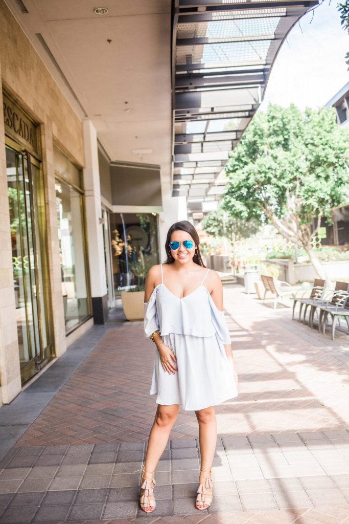 Missguided cold shoulder dress