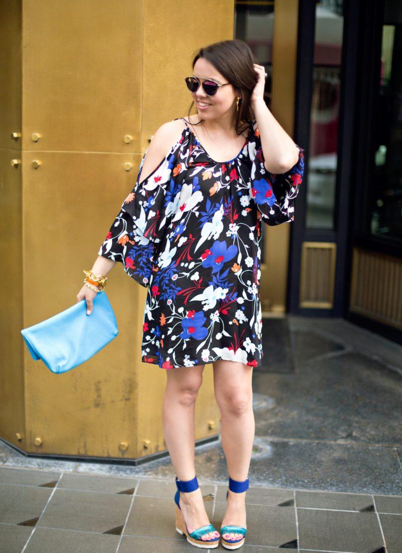 Summer cold shoulder dress