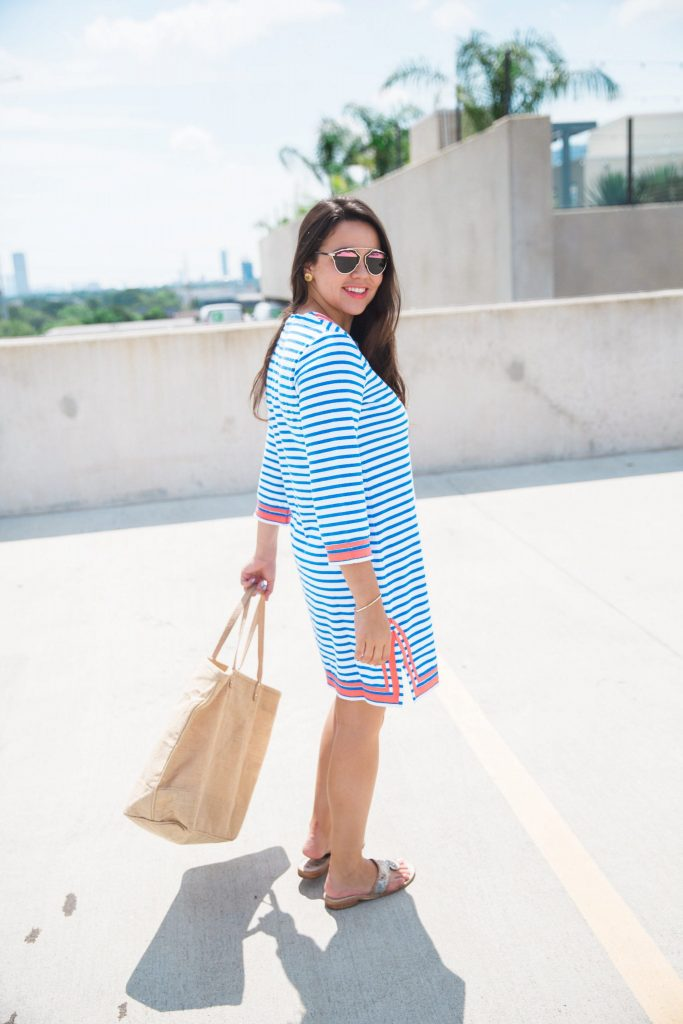 Blue terry tunic
