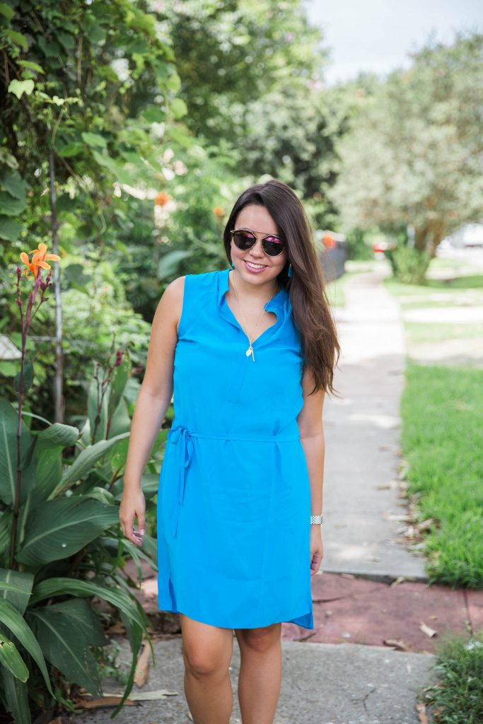 Turquoise shirtdress