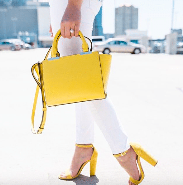 Yellow accessories, Henri Bendel