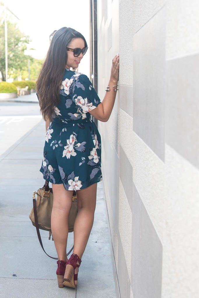 Floral romper for summer and fall