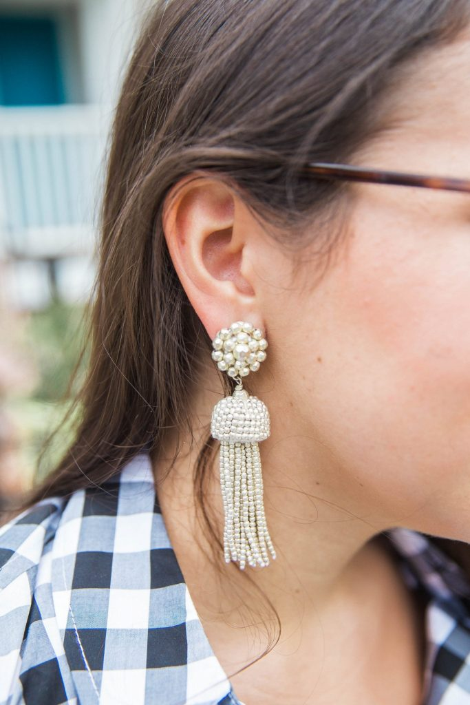 Lisi Lerch silver tassel earrings