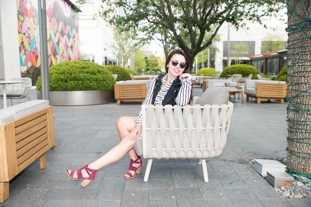 Cranberry suede block heels