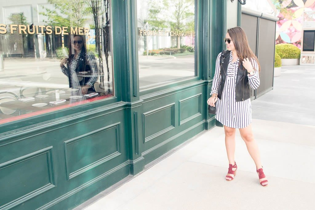Wayf striped shirtdress