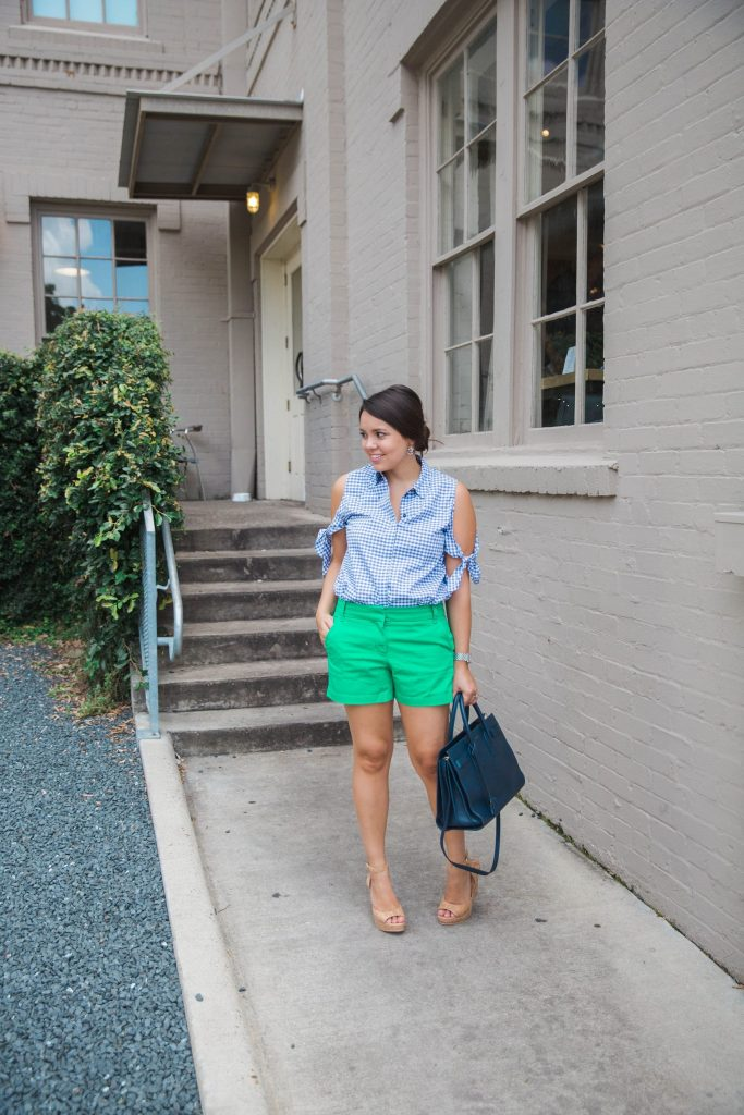Preppy green shorts