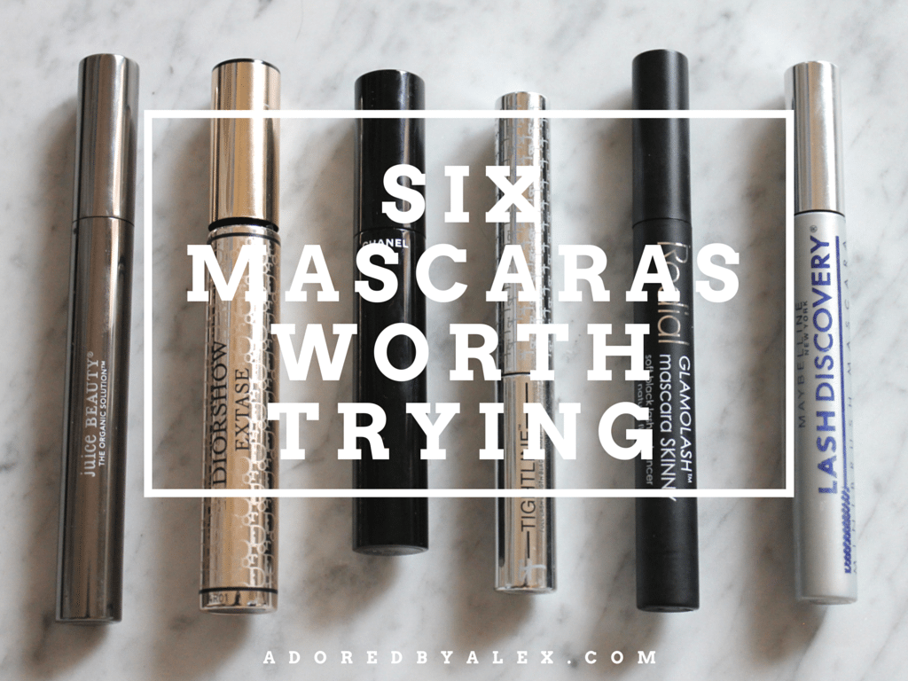 My favorite mascara brands - Adored by Alex