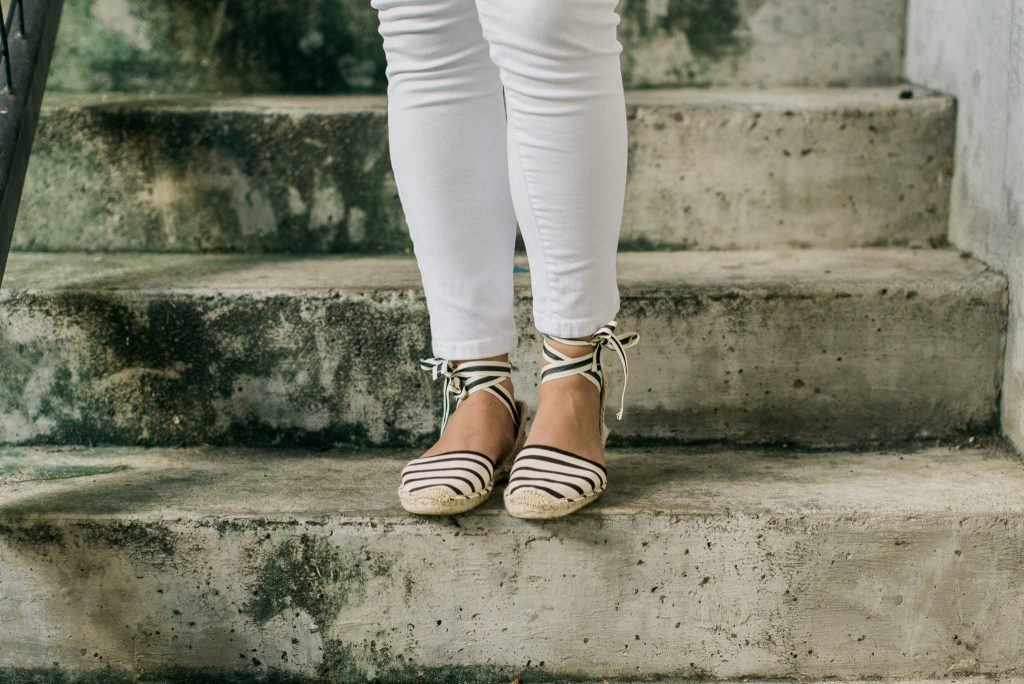 Soludos lace up striped espadrilles