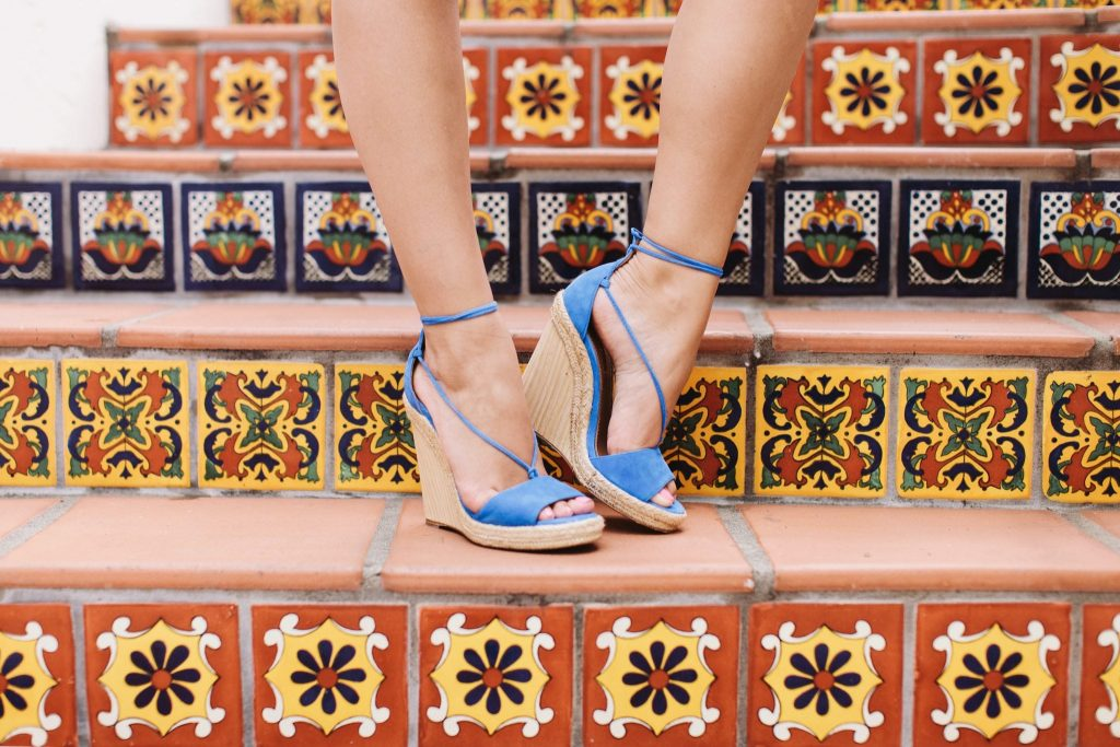 Aquazzura suede blue Alexa wedges