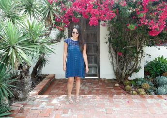Marie Oliver Keli Laser cut dress
