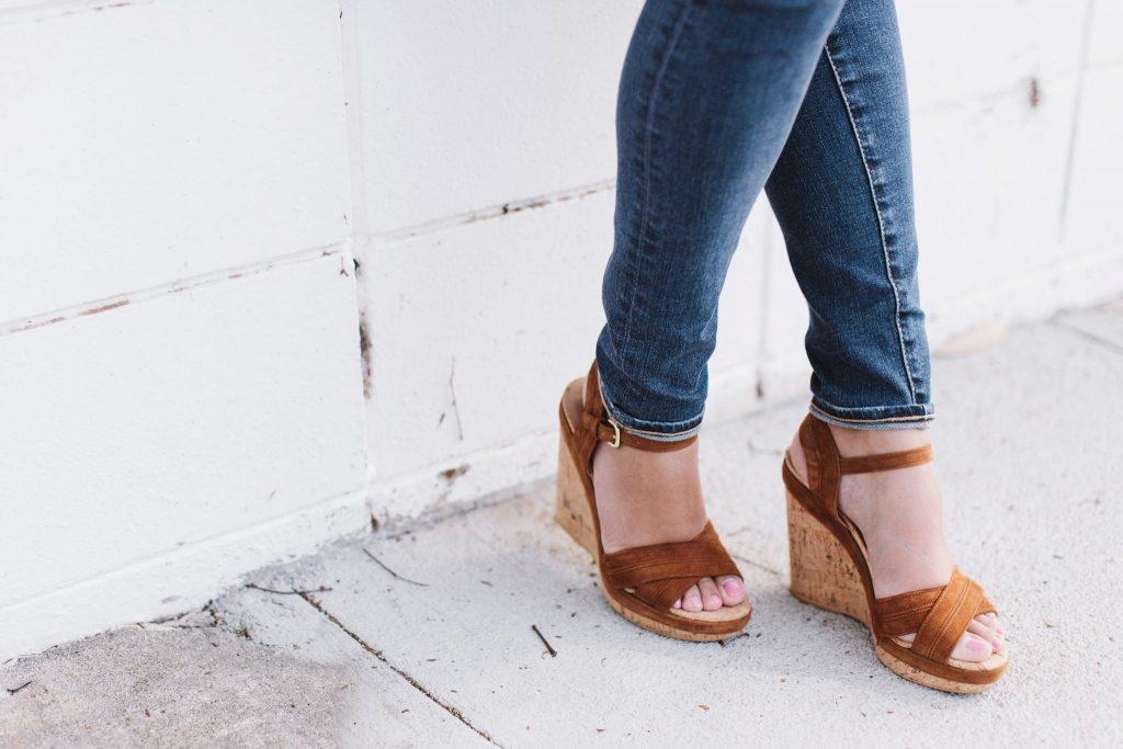 Stuart Weitzman Minky suede wedge sandals